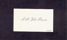 CHATELET 1895 ANCIENNE CARTE DE VISITE - L'Abbé Jules FRANCOIS - Cartes De Visite