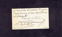 CHATELET 1913 ANCIENNE CARTE DE VISITE - Charles NOËL - Instituteur - Cartes De Visite