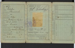CARTE D'IDENTITE * COMMUNE DE CAMBRON-ST-VINCENT * 1919 * HAINAUT * HENEGOUWEN * LELUBRE FLORIMOND - Documents Historiques