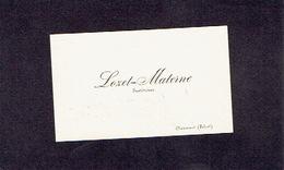 CHAUMONT (SIBRET) 1896 ANCIENNE CARTE DE VISITE - LOZET-MATERNE - Instituteur - Cartes De Visite