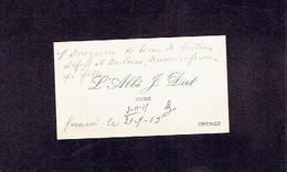 CHENEE 1915 ANCIENNE CARTE DE VISITE - L'Abbé J. DIET - Curé - Cartes De Visite