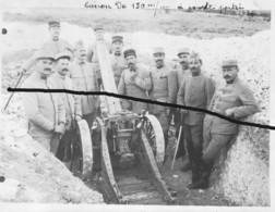Armée Française Artillerie Canon 150 Mm Courte Portée Tranchée 1916 - Krieg, Militär