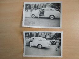 LOT DE 2 PHOTOS VOITURE AUTOMOBILE - Cars