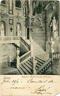 TORINO - PALAZZO REALE-SCALA D'ONOZE. ITALIA PORTAL CPA CIRCOLATA ANNO 1908 - LILHU - Palazzo Reale