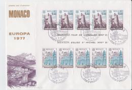 Monaco 1977 FDC Europa CEPT Souvenir Sheet  (LAR8-38) - Europa-CEPT