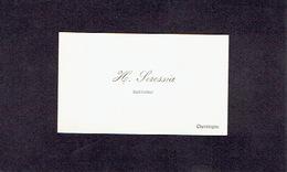 CHEVETOGNE 1908 ANCIENNE CARTE DE VISITE - H. SERESSIA - Instituteur - Cartes De Visite