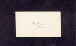 CHIMAY 1900-1910 ANCIENNE CARTE DE VISITE - A. GOBEAUX - Instituteur - Cartes De Visite