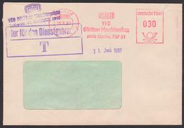"""Görlitz Ortsbrief DDR ZKD Brief AFS VEB Görlitzer Maschinenbau 10.6.87 """"NfD -T-"""" In Einem Stempel!! - Service"""