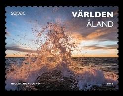 Aland 2018 Mih. 453 SEPAC. Spectacular Views. Waves Breaks Against The Rocks At Hammarudda MNH ** - Aland