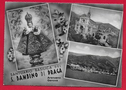 CARTOLINA VG ITALIA - Santuario Basilica Del S. Bambino Di Praga - Arenzano (GE) - 10 X 15 - ANN. 1955 - Genova