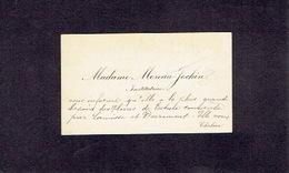 CHOKIER 1900-1910 ANCIENNE CARTE DE VISITE - Madame MOREAU-JOCKIN - Institutrice - Cartes De Visite
