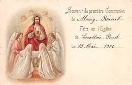 LEVALLOIS PERRET - Souvenir De Première Communion - 1906 - Anges - Levallois Perret