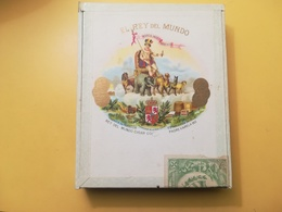SCATOLA VUOTA LEGNO CONTENITORE TABACCO SIGARI CIGAR EL REY DEL MUNDO CUBA REAL CASA CON SIGILLO GARANTIA 1912 - Boites à Tabac Vides