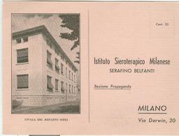 MILANO- ISTITUTO SIEROTERAPICO MILANESE-CARTOLINA RICHIESTA CAMPIONEGRATUITO-1940-ILLUSTRATA,N/V - Salute