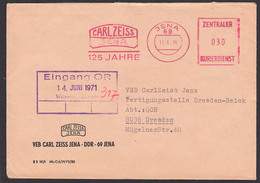 DDR ZKD AFS JENA =ZKD 030= CARL ZEISS 125 Jahre 11.6.71 Nach Teilbetrieb In Dresden - Oficial