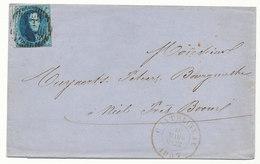 1857 BRIEF Met COB 7 Van CHACHATELINEAU Naar BOOM, Zie Scan(s) - 1858-1862 Médaillons (9/12)