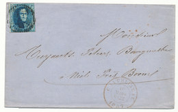 1857 BRIEF Met COB 7 Van CHACHATELINEAU Naar BOOM, Zie Scan(s) - 1858-1862 Medallions (9/12)