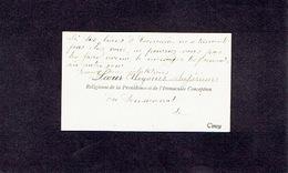 CINEY 1905 ANCIENNE CARTE DE VISITE - Soeur ALOYSIUS - Supérieure Du Pensionnat De La Providence & De L'Immaculée Concep - Cartes De Visite