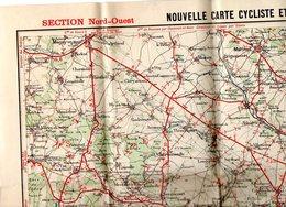 4 Cartes Cyclistes Et Automobiles Des Environs De Paris Taride 1908 ( NO - NE - SO - SE) - Cartes Routières