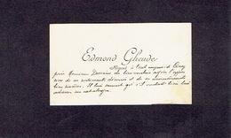 CINEY 1900 ANCIENNE CARTE DE VISITE - Edmond GHEUDE - Régent - Cartes De Visite