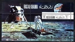RAS AL KHAIMA - BLOC PA N°28 ** (1969) ESPACE / Aldrin Et Lem - Asia