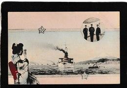 Yokahama,Japan-U.S.Fleet Entering The Harbor Oct,1908 - Antique Postcard - Japan