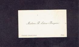 CINEY 1900 ANCIENNE CARTE DE VISITE - Madame P. LATOUR - BEUGNIER - Cartes De Visite