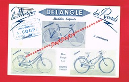 1 Buvard ... Sport Cyclisme ... Vélo Bicyclette DELANGLE ... - Sports