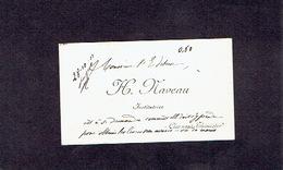 CLERMONT-THIMISTER 1913  ANCIENNE CARTE DE VISITE - H. NAVEAU - Institutrice - Cartes De Visite