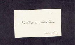 COMINES 1901 ANCIENNE CARTE DE VISITE - LES SOEURS DE NOTRE-DAME - Soeur Germaine Supérieure - Cartes De Visite