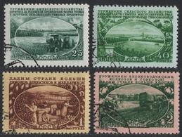 Russia / Sowjetunion 1951 - Mi-Nr. 1566-1569 Gest / Used - Landwirtschaft - 1923-1991 UdSSR