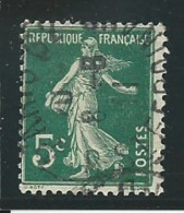 FRANCE: Obl., N° YT 137d, Vert, T.IIA, TB - 1906-38 Semeuse Camée