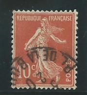 FRANCE: Obl., N° YT 138f, Rouge, T.II, Tb Centré, TB - 1906-38 Säerin, Untergrund Glatt