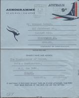 3405 Aerogramma, Aerograma ,Aerograme, Hobart  , Tasmania, Australia, 1967 - Aerogrammes
