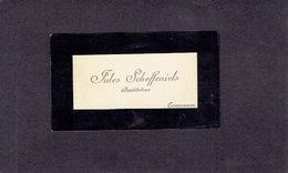 CORSWAREM 1900-1910  ANCIENNE CARTE DE VISITE - Jules SCHOFFENIELS - Instituteur - Cartes De Visite