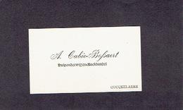 COUCKELAERE 1908 OUDE VISITEKAARTJE - A. CABIE - BOSSAERT - Hulponderwijzer - Boekhandel - Cartes De Visite