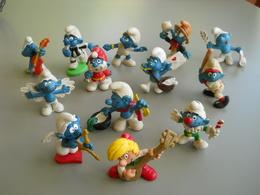 Lot De 13 Figurines SCHTROUMPF - Bis - Schtroumpfs