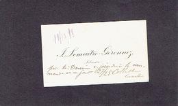 COURCELLES 1898 ANCIENNE CARTE DE VISITE - J. LEMAITRE - GERONNEZ - Libraire - Cartes De Visite