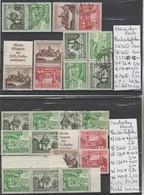 TIMBRES D ALLEMAGNE NEUF **/ * / OBLITEREES 1933-45 Nr VOIR SUR PAPIER AVEC TIMBRES   COTE 65.50 € - Allemagne