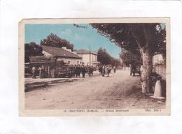 CPA : 14 X 9  -  10 -  GRAVESON  -  Grand  Boulevard - Francia