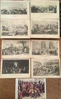 9 CPA, Musée Versailles, éd Bourdier (8),éd Deschiens (1)  Napoléon Bonaparte, Révolution, Maréchaux D'Empire, Batailles - Musées