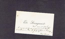 CRAS-AVERNAS 1908 ANCIENNE CARTE DE VISITE - Ete. STRENGNARTE - Curé - Cartes De Visite