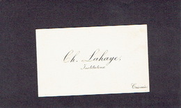 CRISNEE 1910 ANCIENNE CARTE DE VISITE - Ch. LAHAYE - Instituteur - Cartes De Visite