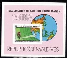MALDIVES - BLOC  N°43 ** NON DENTELE  (1977) ESPACE / INTELSAT  4A - Space