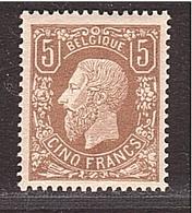 BELGIUM BELGIQUE 5 Francs Léopold 1878 Neuf Non Expertisé - 1869-1883 Léopold II
