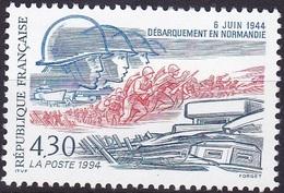 France 50e Annniversaire Du Débarquementen Normandie N° 2887 Année 1994 Neuf** - Nuovi