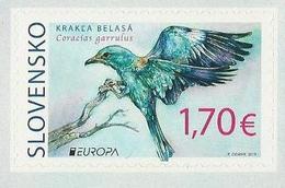 """ESLOVAQUIA /SLOVAKIA /SLOWAKIEN  -EUROPA 2019 -NATIONAL BIRDS.-""""AVES -BIRDS -VÖGEL-OISEAUX""""- SERIE De 1 V. ADH. Carnet - 2019"""