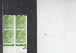 GRAN BRETAGNA  1975 - Unificato 764a (quartina) - Elisabetta - Nuovi