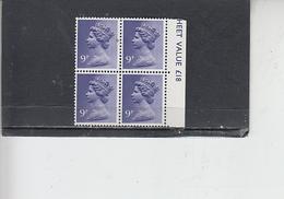 GRAN BRETAGNA  1976 - Unificato 780 (quartina) - Elisabetta - Nuovi
