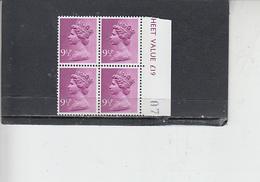 GRAN BRETAGNA  1976 - Unificato 781 (quartina) - Elisabetta - Nuovi